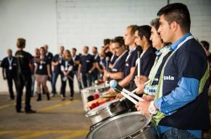 team building con percusión