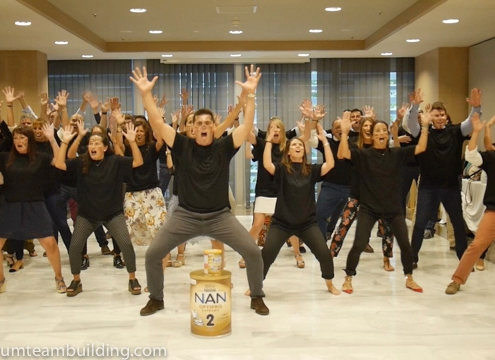 Haka team building Barcelona_5